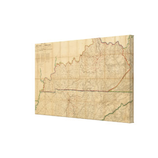 Military Map of the States of Kentucky Canvas Print