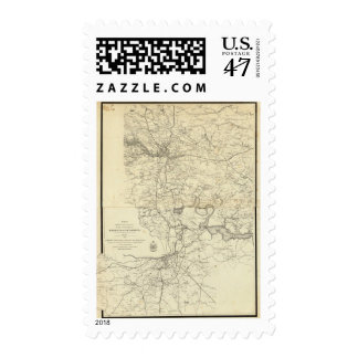 Military Map of the United States Postage