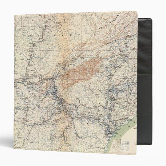 Military map, WT Sherman Binder