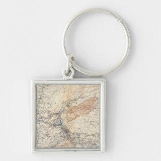 Military map, WT Sherman Key Chains
