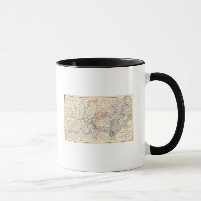 Military map, WT Sherman Mug