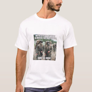 Military marching for free college T-Shirt