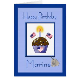 Military Marine Birthday Card