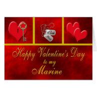 Military Marine Valentine Card