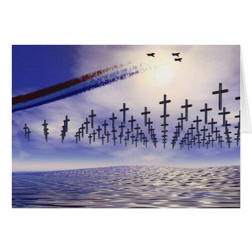 Military - Memorial Day; Tribute at sea Greeting Card