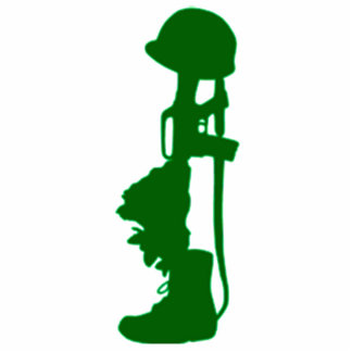 military memorial gift statuette