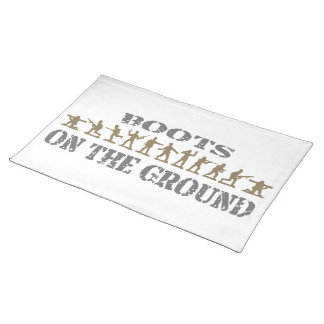 Military Men - Boots on the Ground Cloth Placemat