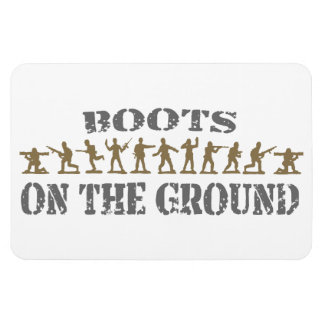 Military Men - Boots on the Ground Magnet