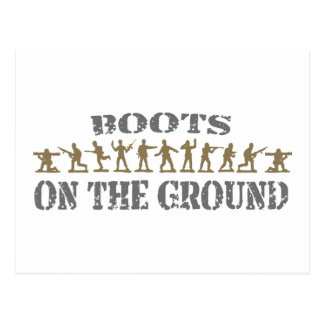 Military Men - Boots on the Ground Post Card