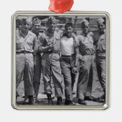 Military Men Playful Buddies hot Metal Ornament