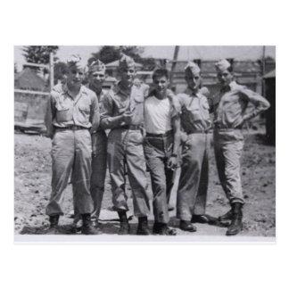 Military Men Playful Buddies hot Postcard