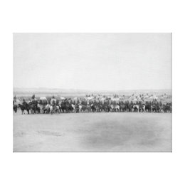 Military Men with 70 Lakota Indian Scouts Canvas Print
