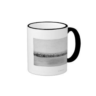 Military Men with 70 Lakota Indian Scouts Ringer Coffee Mug