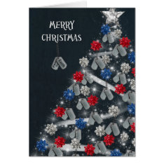 Military Merry Christmas Card at Zazzle