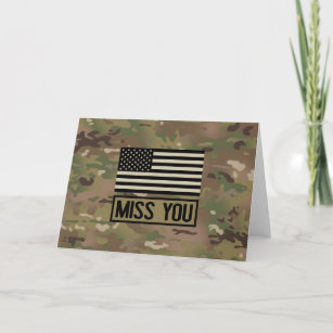 Thinking of you You/'re in my thoughts Miss you Military Card Miss You Military Card I Miss You