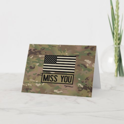 Military _ Miss You Card