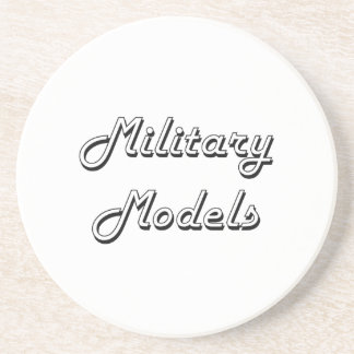 Military Models Classic Retro Design Drink Coasters
