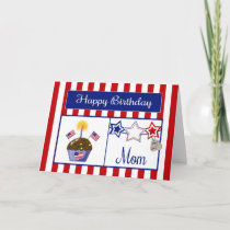 Military Mom Birthday Card
