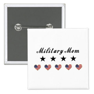 Military Mom Pinback Buttons