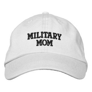 MILITARY MOM EMBROIDERED BASEBALL CAP