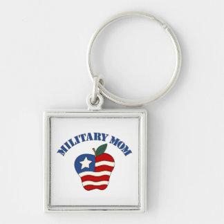 Military Mom Patriotic Apple Keychain