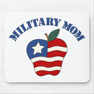 Military Mom Patriotic Apple Mouse Pad