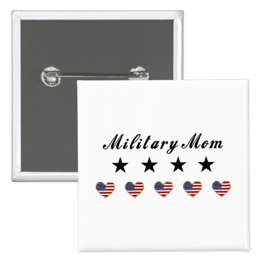 Military Mom Pinback Button