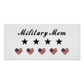 Military Mom Poster