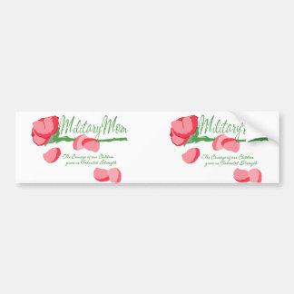 Military Mom Rose Bumper Sticker