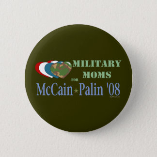 Military Moms for McCain Palin 08 Button