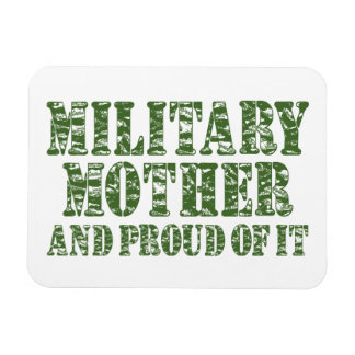 Military Mother & Proud of it Rectangular Magnet