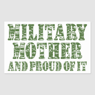 Military Mother & Proud of it Rectangular Sticker