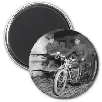 Military Motorcycle EMT, 1910s 2 Inch Round Magnet