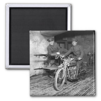 Military Motorcycle EMT, 1910s 2 Inch Square Magnet