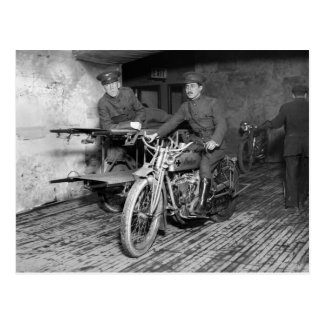 Military Motorcycle EMT, 1910s Post Card