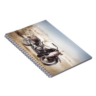 Military Motorcycle Spiral Notebook