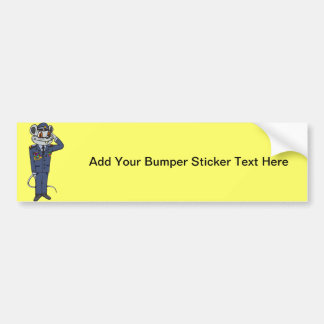 Military Mouse Bumper Sticker