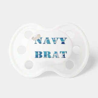 Military Navy Brat Pacifier