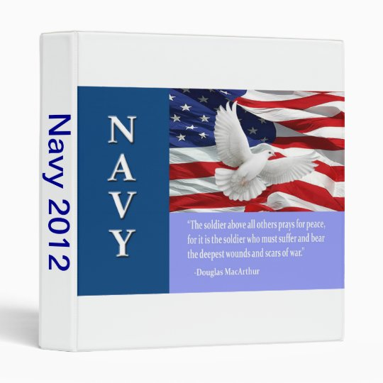 Military Navy Photo Album Binder