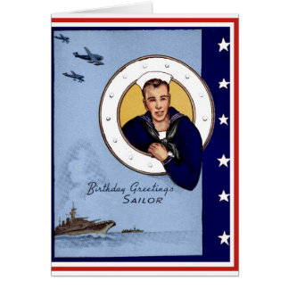 Military Navy Sailor Birthday Card