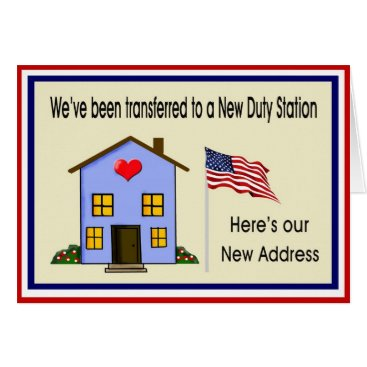 Military New Home Address Card
