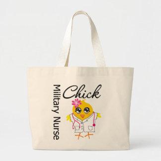 Military Nurse Chick v2 Canvas Bags