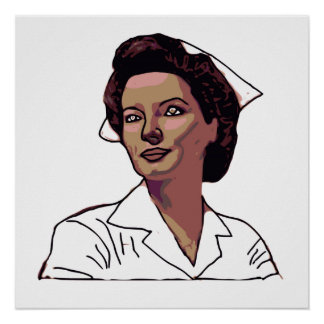 Military Nurse Print