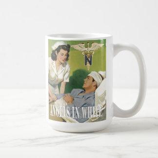 Military Nurses - Angels In White Coffee Cup Classic White Coffee Mug