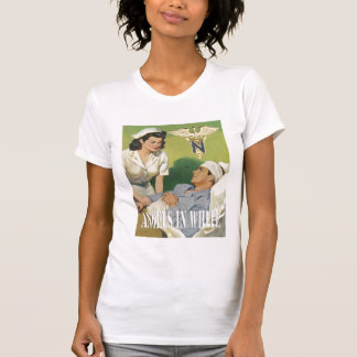 Military Nurses - Angels In White Ladies Shirt