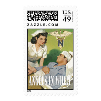 Military Nurses - Angels In White Postage Stamps