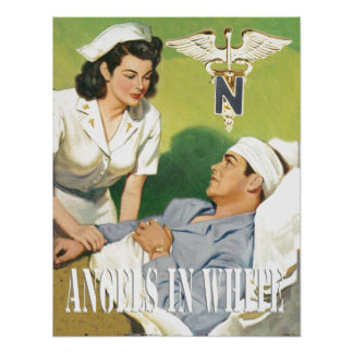 Military Nurses - Angels In White Poster