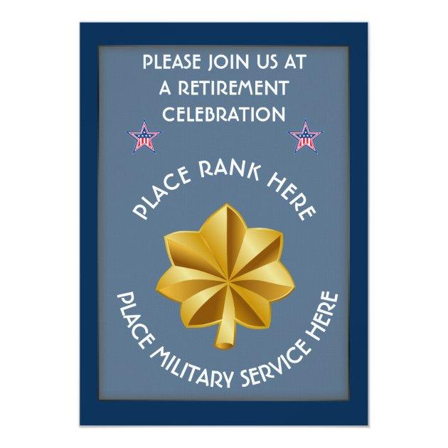 Military O4 Retirement Invitation