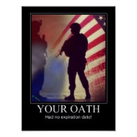 Military Oath Reminder Print