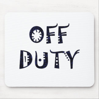 military Off Duty Black Mouse Pad
